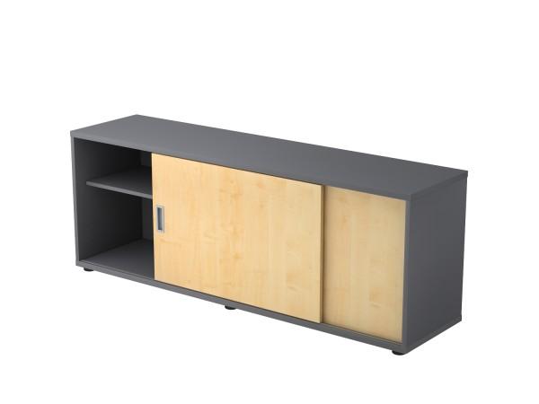 Sideboardserie SB, V1758S-*-*, Breite 160cm, Tiefe 40 cm, Höhe 59,6 cm, 2 Schiebetüren