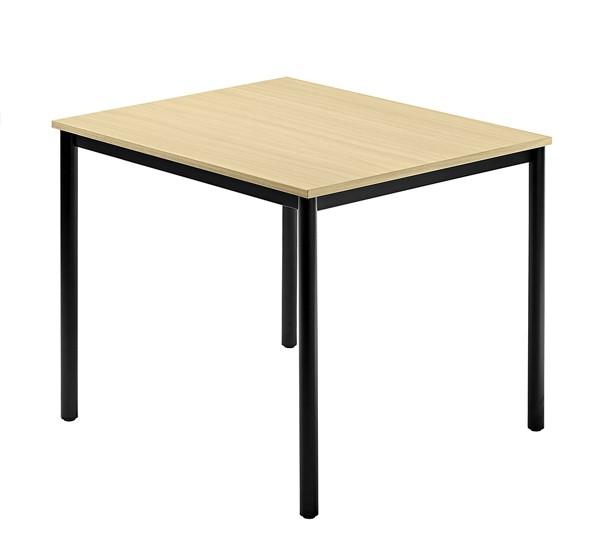 Meeting - Tischsystem D-Serie Füße rund alle Maße, VDR08, VDR12, VDR16, VDRTR, Höhe 72cm, Füße schwa
