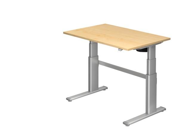 EL-Schreibtischserie Xanten-D alle Maße, VXD12,16,19,2E,20* Höhe 66-130cm, Gestell silber