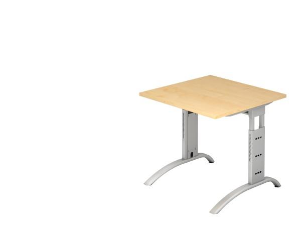Schreibtischserie Föhr alle Maße, VFS08 bis VFS21, Höhe 65cm- 85cm, Gestell silber,schwarz
