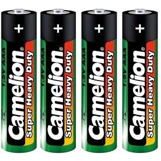 Micro-Batterien Camelion Heavy Duty Typ AAA/R03,1,5V, 4er-Shrink