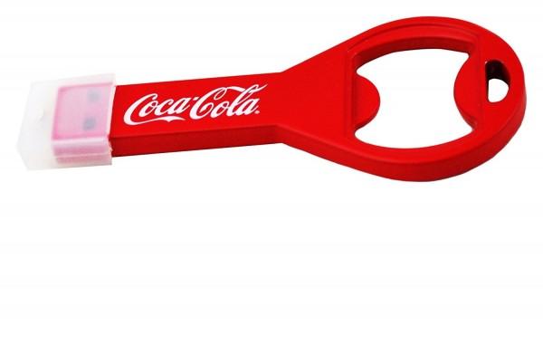 Coca Cola COKE-USBOPENBOTTLE-32-C Flaschenöffner Flash Drive Laufwerk USB 2.0-Stick 32GB rot/weiß