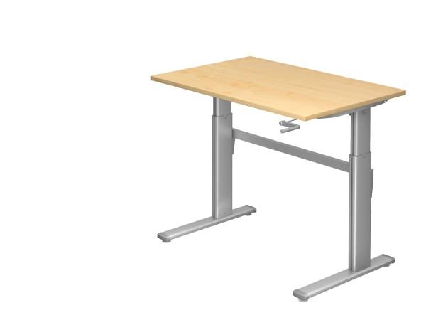 Schreibtischserie Xanten - K alle Maße, VXK12,VXK16/*, Höhe 72-119cm, Gestell silber