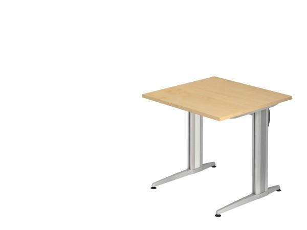 Schreibtischserie Xanten-S alle Maße, VBS08,12,16,19,20,18,82,21/*, Höhe 72cm, Gestell silber