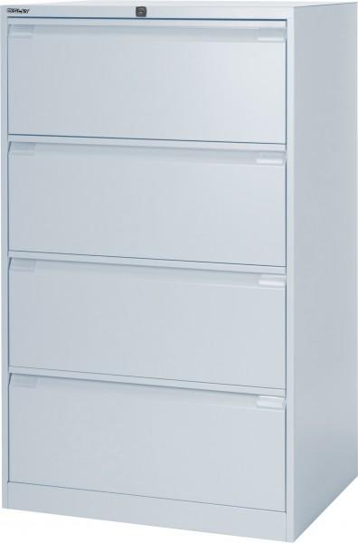 Bisley Hängeregistraturschrank DF4, doppelbahnig, DIN A4, 4 HR-Schubladen