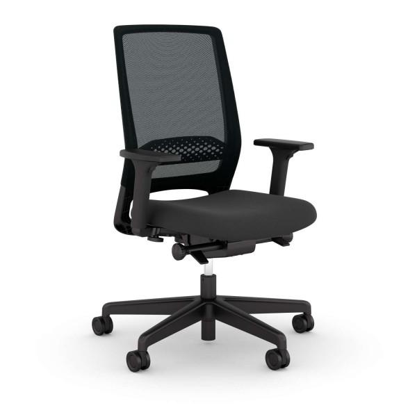 Bürostuhl Kickster - Netzrücken - schwarz