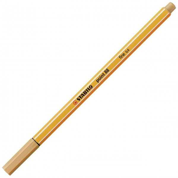 Fineliner - STABILO point 88 - ocker dunkel