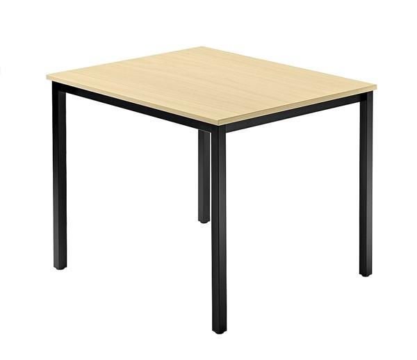 Meeting - Tischsystem D-Serie Füße eckig alle Maße, VDQ08, VDQ12, VDQ16, VDQTR, Höhe 72cm, Füße schw