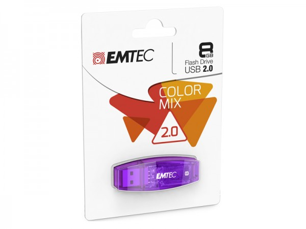 USB FlashDrive 8GB EMTEC C410 ( Lila ) USB 2.0