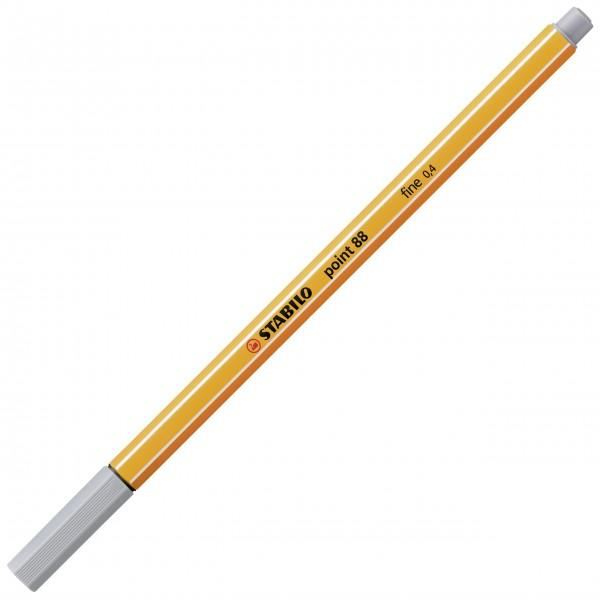 Fineliner - STABILO point 88 - mittelgrau