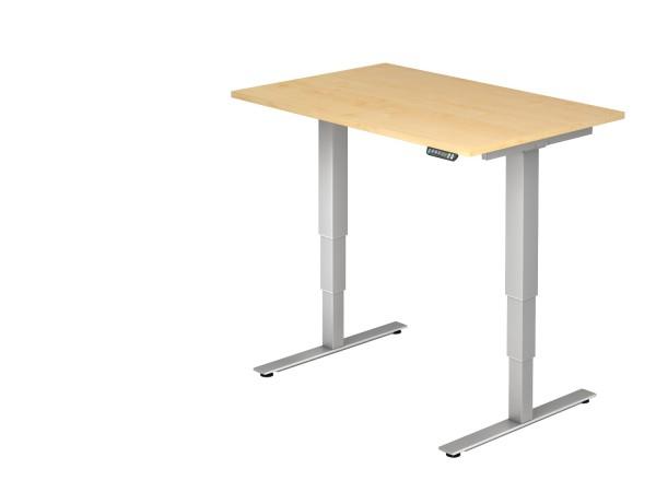 EL-Schreibtischserie Xanten-DSM alle Maße, VXDSM12,16,18,19,20,2E,82 Höhe 63,5-128,5cm, Gestell silb