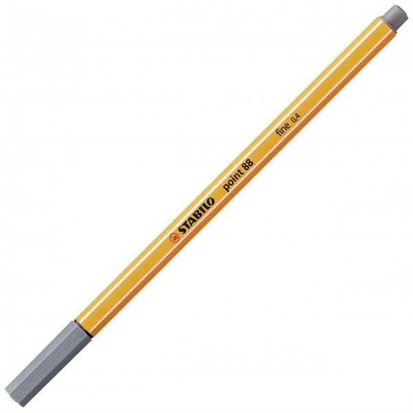 Fineliner - STABILO point 88 - dunkelgrau