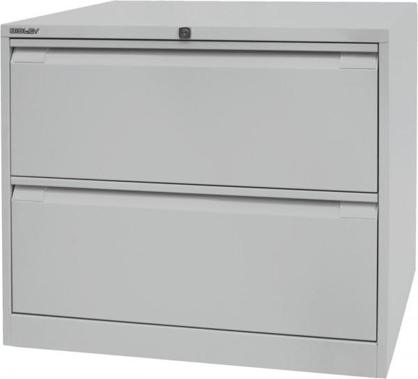Bisley Hängeregistraturschrank DF2, doppelbahnig, DIN A4, 2 HR-Schubladen