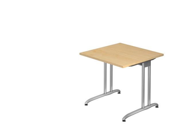 Schreibtischserie Berlin alle Maße, VBS08,12,16,19,2E,20,18,82,21/*, Höhe 72cm, Gestell silber