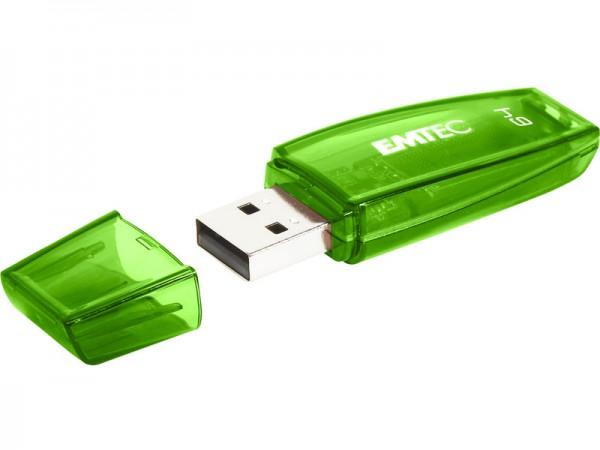 USB FlashDrive 64GB EMTEC C410 (Grün) USB 3.0
