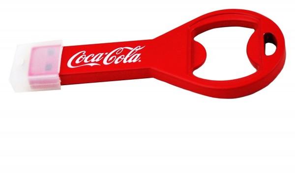 Coca Cola COKE-USBOPENBOTTLE-16-C Flaschenöffner Flash Drive Laufwerk USB 2.0-Stick 16GB rot/weiß
