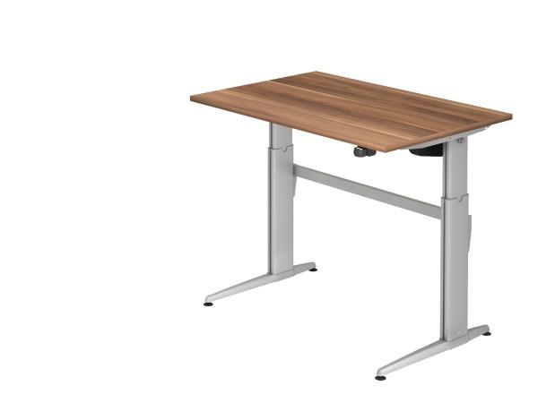 EL-Schreibtischserie Xanten-E alle Maße, VXE12,16,19* Höhe 72-119cm, Gestell silber