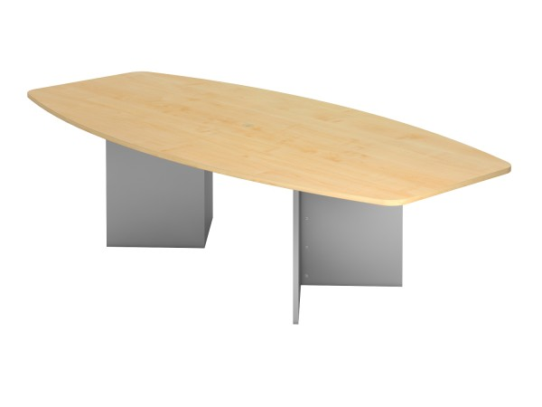 Meeting - Tischsystem KT-Serie Holzuntergestell Maße, VKT28H, Höhe 74,5cm, Gestell silber
