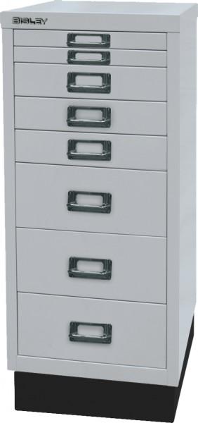Bisley MultiDrawer, 29er Serie mit Sockel, L298S, DIN A4, 8 Schubladen