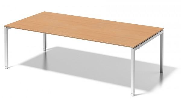 Bisley Cito, DUH2412, höheneinstellbares U - Gestell, Chefarbeitsplatz, Konferenztisch, 2400 x 1200