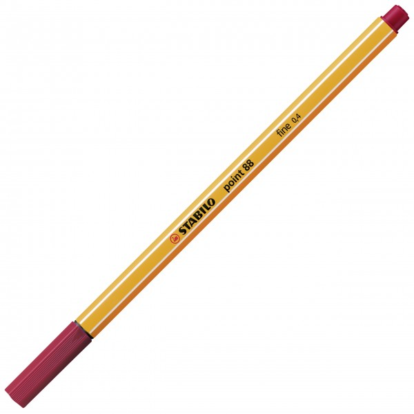 Fineliner - STABILO point 88 - dunkelrot