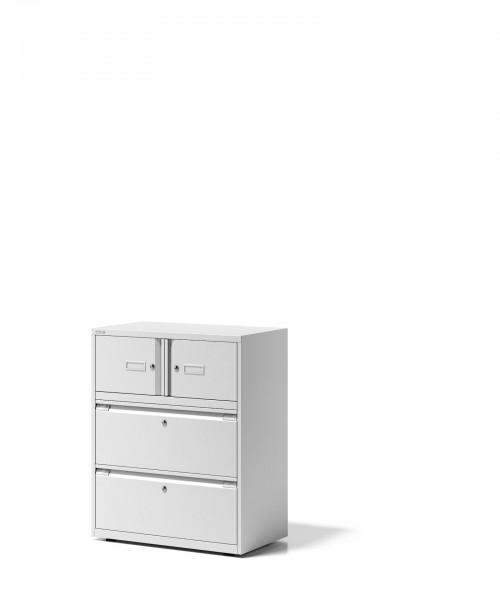 Bisley Kombination Essentials, YECO0810, 2 Türen à H 267 & 2 Schubladen à H 304 mm