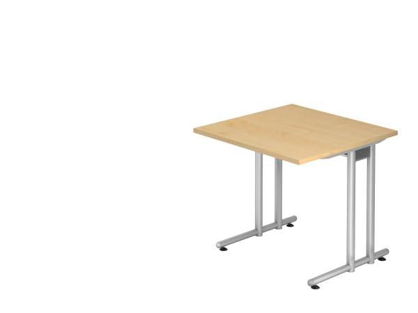 Schreibtischserie Nizza alle Maße, VNS08 bis VNS21, Höhe 72cm, Gestell silber,chrom