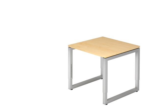 Schreibtischserie Rom alle Maße, VRS 08,12,16,19,2E,82,21*, Höhe 65cm - 85cm, Gestell silber,graphit