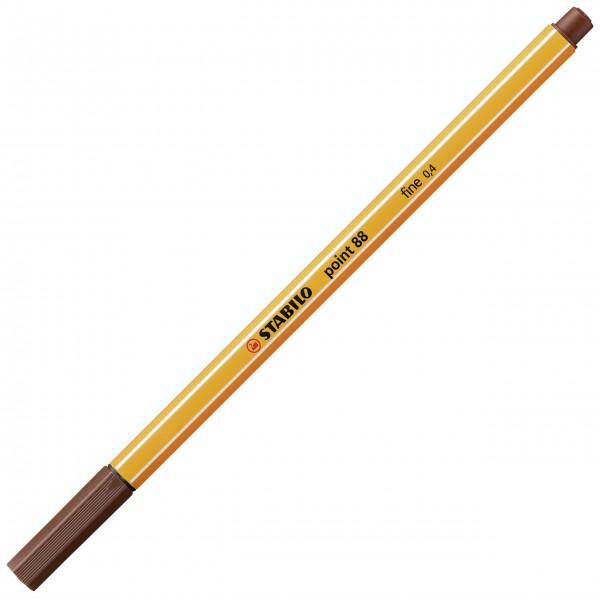 Fineliner - STABILO point 88 - braun