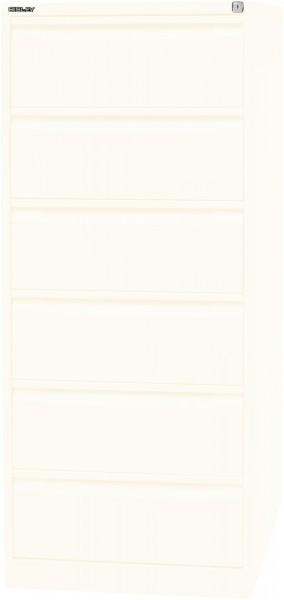 Bisley Karteischrank, doppelbahnig DIN A5, B97, 6 Schubladen