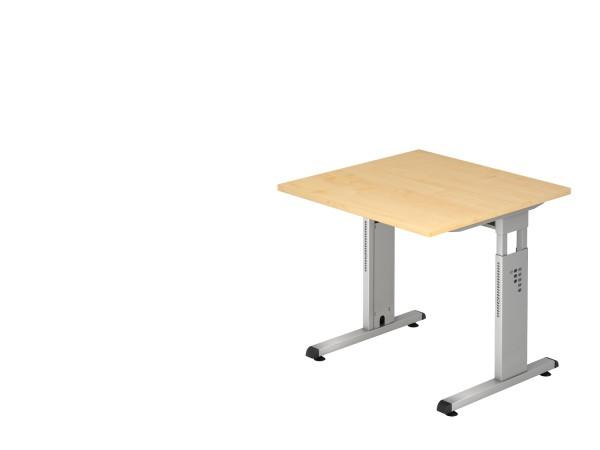 Schreibtischserie Oslo alle Maße, V0S08 bis V0S21, Höhe 65-85cm, Gestell silber,schwarz,weiß