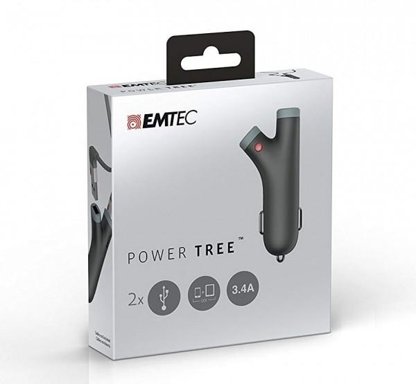 Emtec Power Tree Car Charger for iPad and Smart Phones (ECCHAU200)