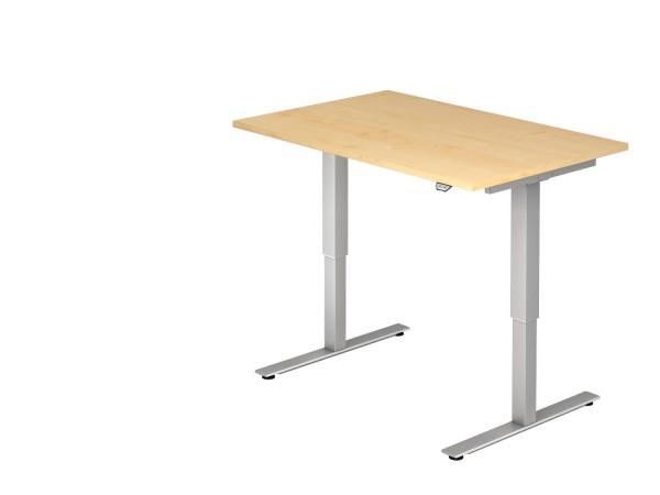 EL-Schreibtischserie Xanten-MST alle Maße, VXMST12,16,19, Höhe 72-119cm, Gestell silber