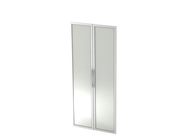 Schrankwandsystem Basic, V410G/S, Glasfront 5 OH, Breite 80cm, Tiefe 2 cm, Höhe 188 cm, Bügelgriff