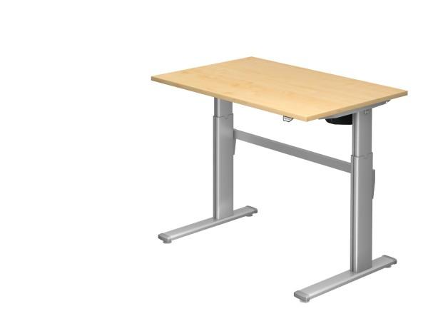 Schreibtischserie Xanten - XM alle Maße, VXMS12,16,19,2E,20,/*, Höhe 72-119 cm, Gestell silber